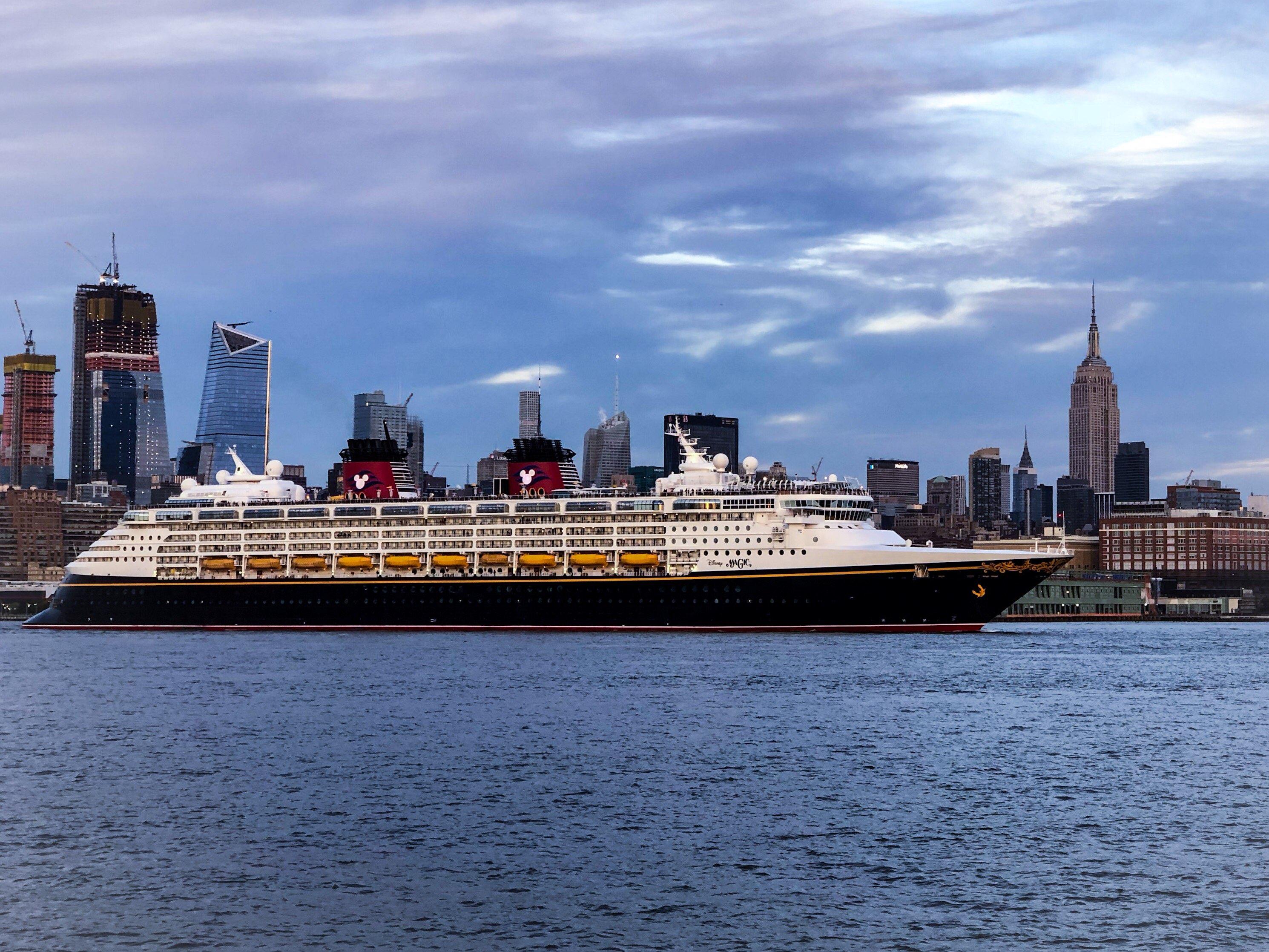 Disney cruise on the Hudson